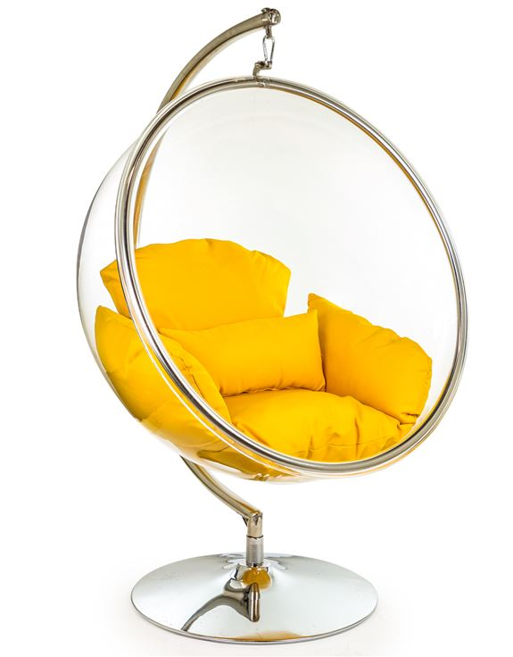 Retro Hanging Bubble Chair On Steel, Bubble Hanging Chair